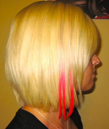 Breast Cancer Awareness-Pink hair extensions-Reading, PA ...