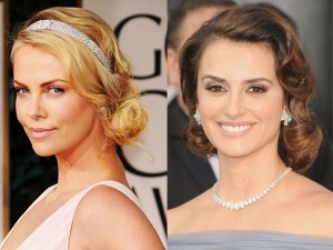 Penelope Cruz Charlize Theron Finger Waves