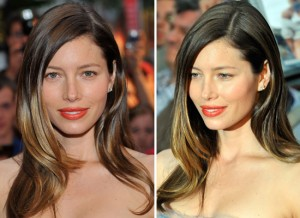 bayalage ombre highlights tangerine lips jessica biel reading pa